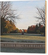 Butler University Mall Wood Print