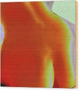 Butt Wood Print by Ben Lavitt