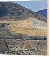Butte Berkeley Pit Mine Wood Print