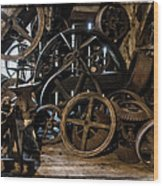 Butte Creek Mill Interior Scene Wood Print