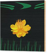 Buttercup Delight Wood Print