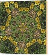 Buttercup Kaleidoscope Wood Print
