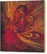 Butterfire Wood Print