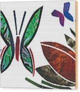 Butterflies Wood Print by Earl ContehMorgan