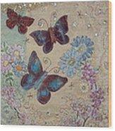 Butterflies Wood Print by Hazel Millington