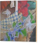 Butterflies In The Breeze Wood Print