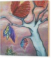 Butterflies In The Midst  Wood Print