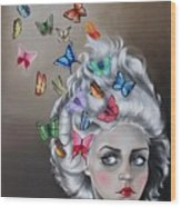 Butterflies In The Thoughts Wood Print