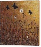 Butterflies Landscape Wood Print