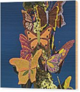Butterflies On A 2015 Rose Parade Float 15rp047 Wood Print