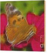 Butterfly-5416-fractal Wood Print