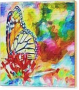 Butterfly Abstracted Wood Print