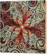 Butterfly And Bubbles Wood Print by Anastasiya Malakhova