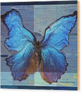 Butterfly Art - Dream It Do It - 99at3a Wood Print