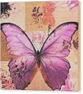 Butterfly Art - Sr51a Wood Print