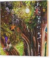 Butterfly Ball Tree Wood Print by Aimee Stewart
