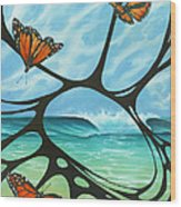 Butterfly Beach Wood Print