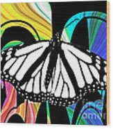 Butterfly Abstract Wall Art Decor Wood Print