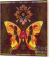 Butterfly By Design Abstract Symbols Artwork Wood Print