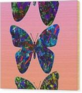 Butterfly Collage IIII Wood Print