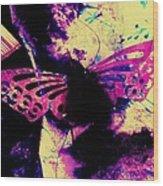 Butterfly Disintegration  Wood Print
