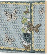 Butterfly Dreamland Wood Print