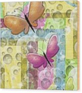 Butterfly Dreams Wood Print by Karen Sheltrown