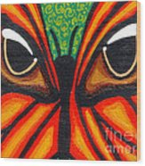 Butterfly Eyes Wood Print
