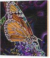Butterfly Garden 24 - Monarch Wood Print
