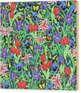 Butterfly Garden Wood Print