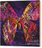 Butterfly In Abstract Dsc2977 Square Wood Print