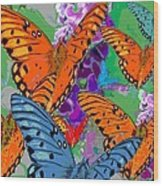 Butterfly Joy Wood Print