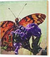 Butterfly Kissed Wood Print