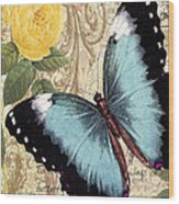 Butterfly Kisses-a Wood Print
