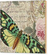 Butterfly Kisses-b Wood Print
