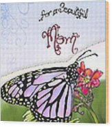 Butterfly Kisses Wood Print