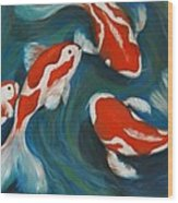 Butterfly Koi Wood Print by Nancy Bradley