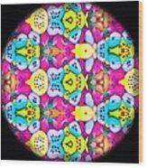 Butterfly Mandala Wood Print
