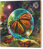 Butterfly Monarchy Wood Print