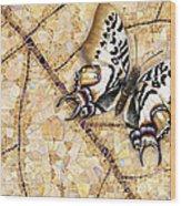 Butterfly Mosaic 01 Elena Yakubovich Wood Print by Elena Yakubovich