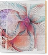 Butterfly Note Wood Print