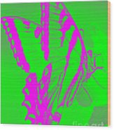 Butterfly Ode To Andy Warhol Wood Print