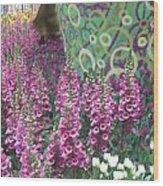 Butterfly Park Flowers Painted Wall Las Vegas Wood Print