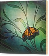 Butterfly Pause V1 Wood Print
