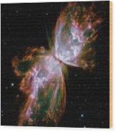 Butterfly Planetary Nebula Wood Print