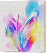Butterfly Sound Abstract Wood Print