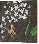 Butterfly Sprig Wood Print