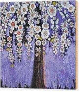 Butterfly Tree Wood Print by Blenda Studio