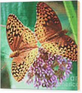 Butterfly Twins Wood Print