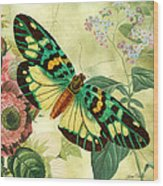 Butterfly Visions-a Wood Print
